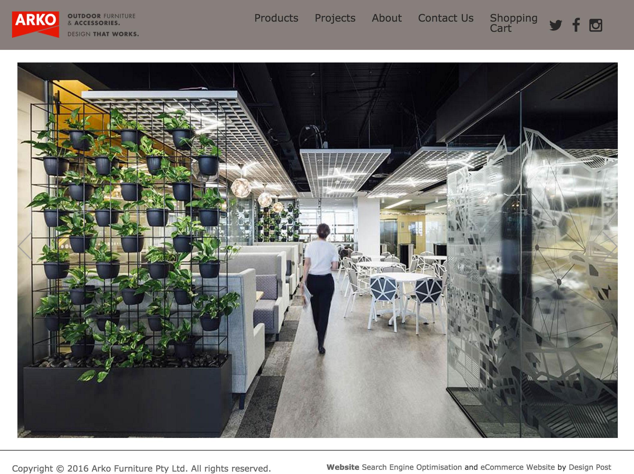 Arko Furniture Home Products Online Shop And Website Design