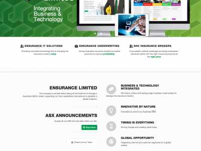 web design -Ensurance Ltd