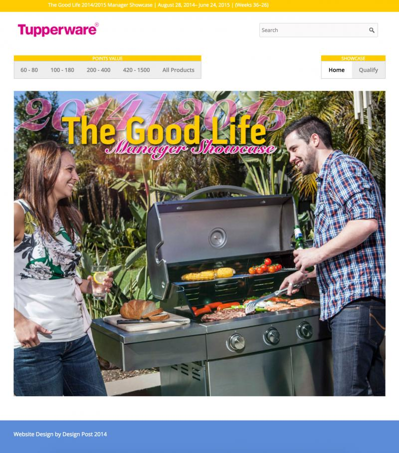 Ecommerce website for tupperware
