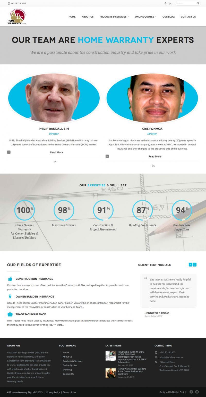 Web design - Australian Building Services