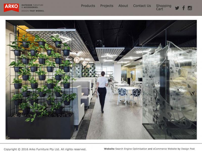 Arko Furniture Home Products Online Shop and Website Design Design