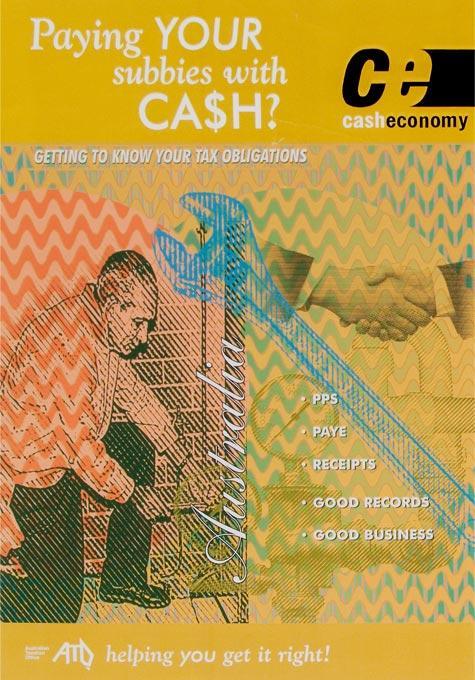 ATO Cash economy poster