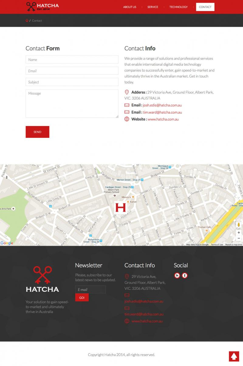 Web design - Hatcha