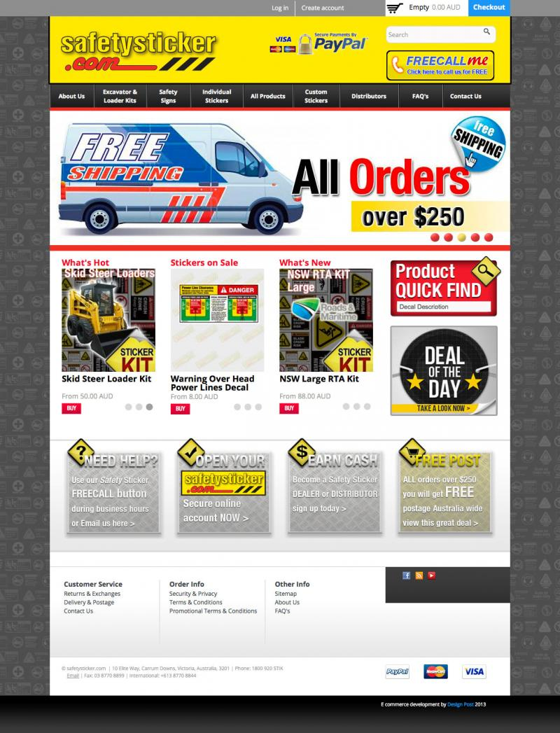 Web design - safetysticker.com